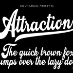 Attraction Font