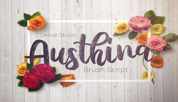 Austhina Brush Calligraphy Scratch Font