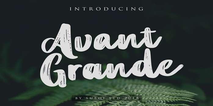 Avant Grande Font