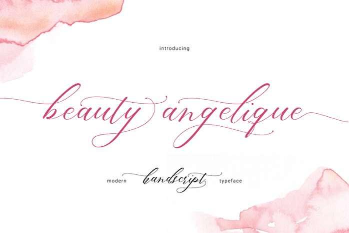 Beauty Angelique Font