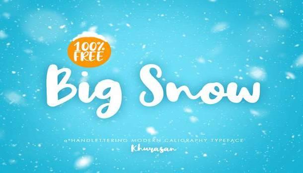 Big Snow Font