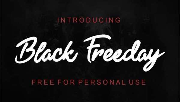 Black Freeday Font
