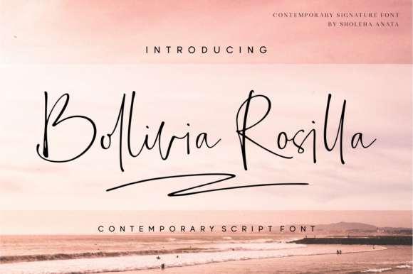Bollivia Rosilla Script Font