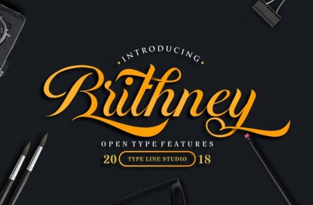 Brithney Script Font