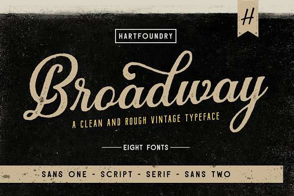Broadway Font Family - Dafont Free