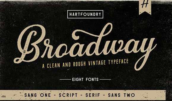 Broadway Font Family
