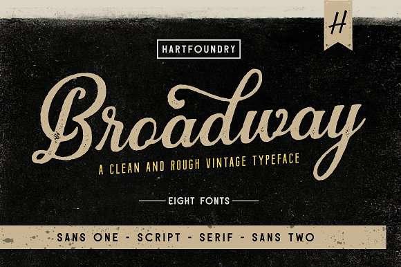 Broadway font