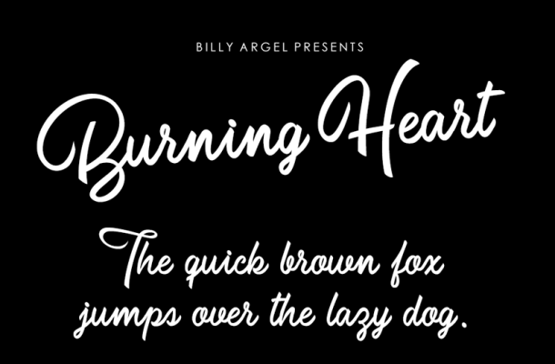 Burning Heart Font