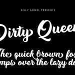 Dirty Queen Font