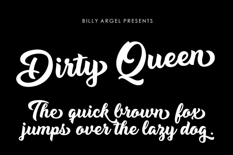 Dirty Queen Font
