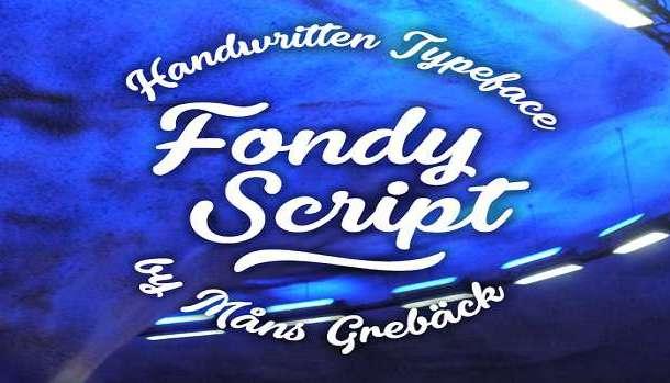 Fondy Script Font