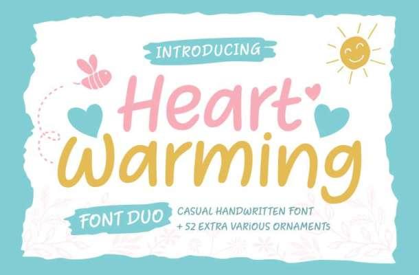 Heart Warming Font