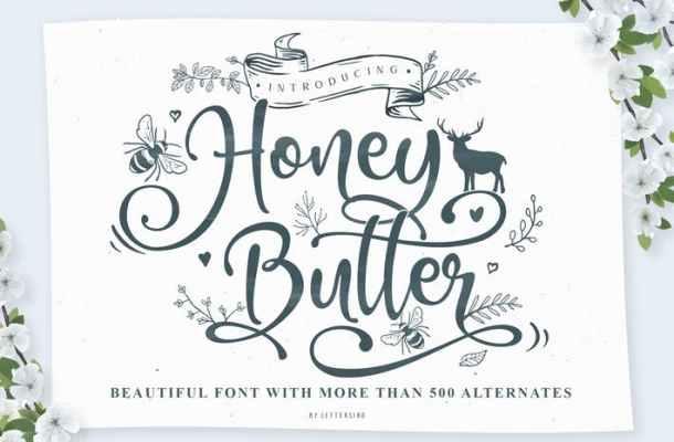 Honey Butter Font