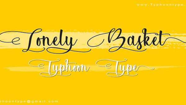 Lonely Basket Font