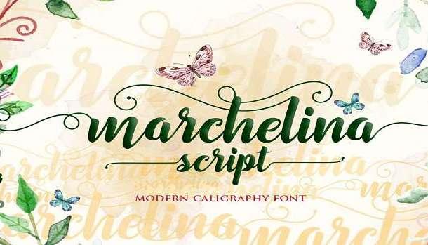 Marchelina Script Font
