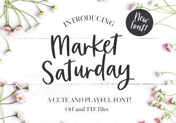 Market Saturday Font