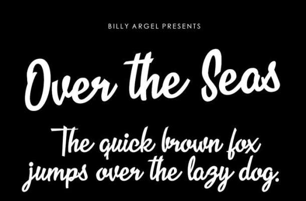 Over the Seas Font