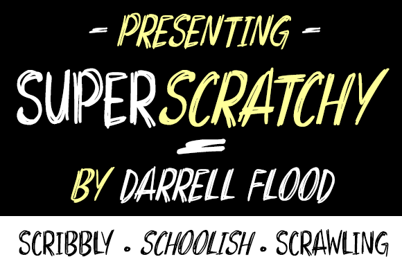 Super scratchy Font Family