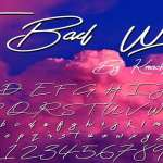 The Bad Weather Font