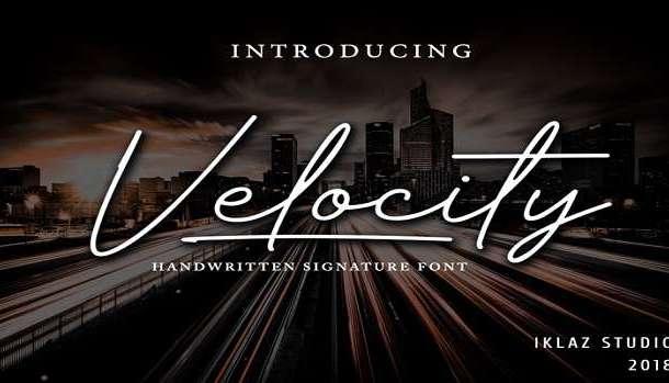 Velocity Font