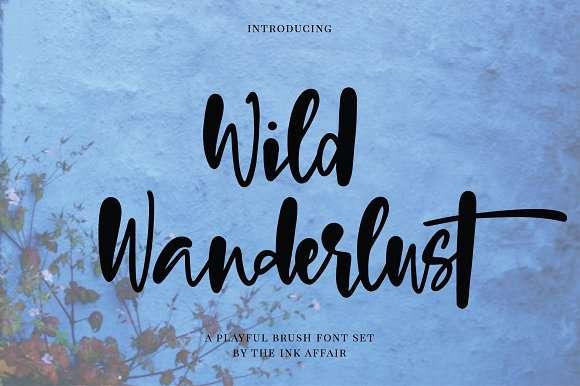 Wild Wanderlust Font