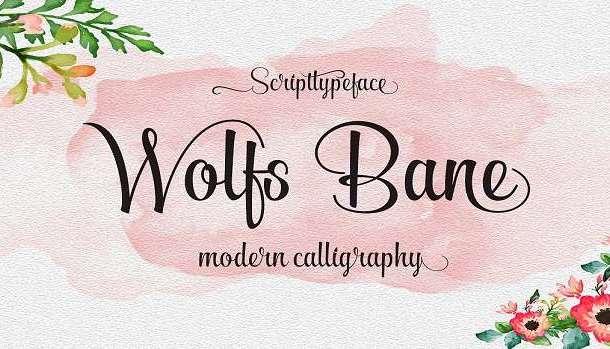 Wolf Bane Pro Font