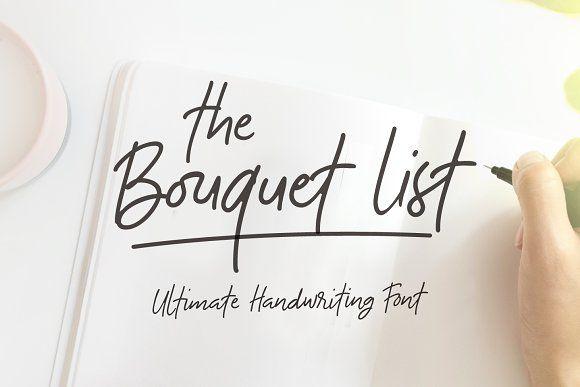 The Bouquet List Font