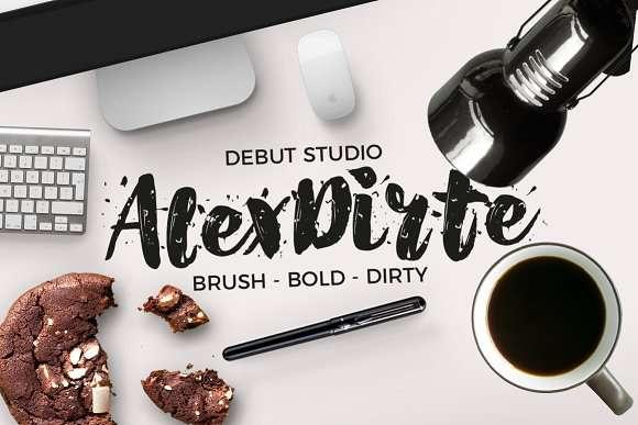 Alex Dirte font