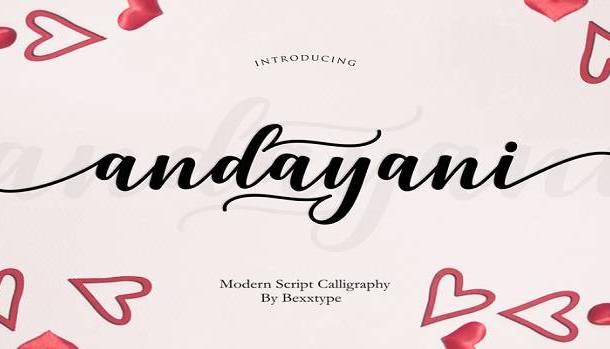 Andayani Font