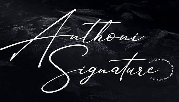 Anthoni Signature Font
