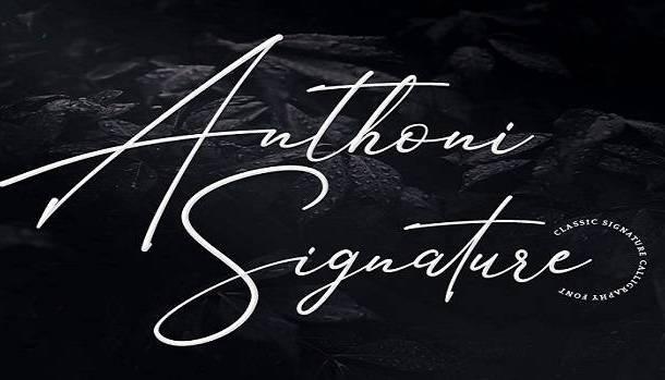 Anthoni Signature Font