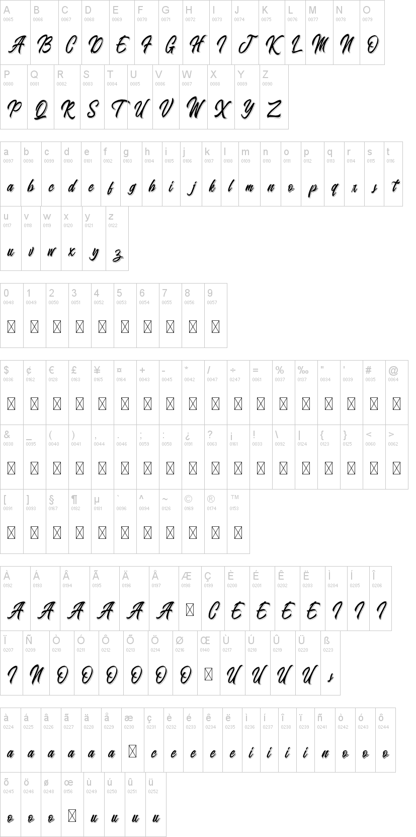 Badminton of Shadow Font-1