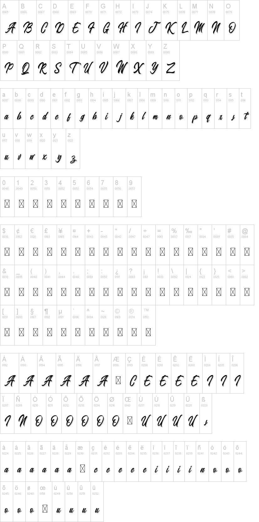 Badminton of Shadow Font-1