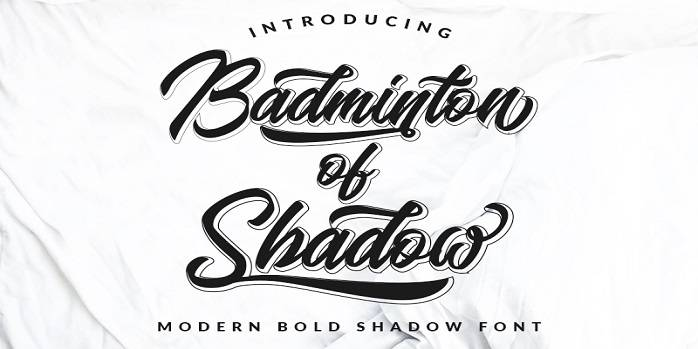 Badminton of Shadow Font - Dafont Free