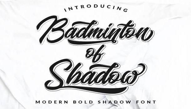 Badminton of Shadow Font