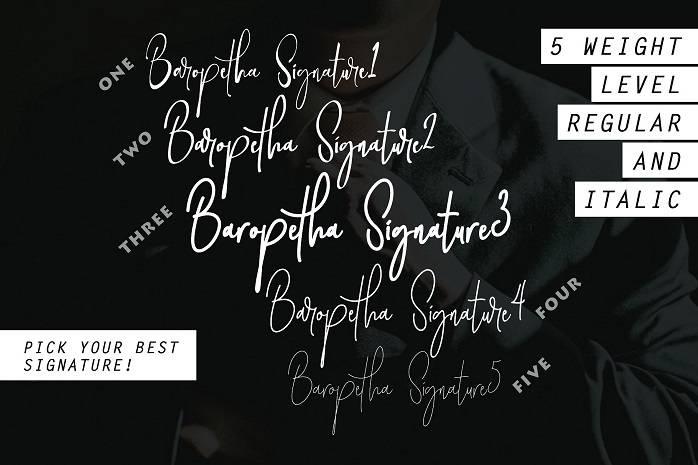 Baropetha Signature Demo Font-1