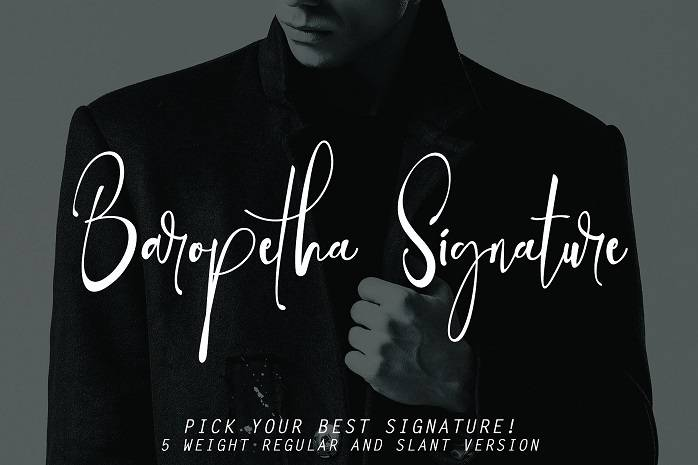 Baropetha Signature Demo Font