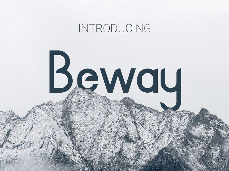 Beway font