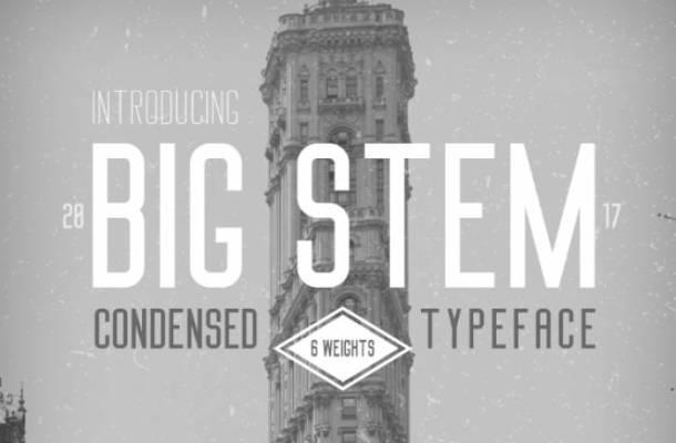 Big Stem Font