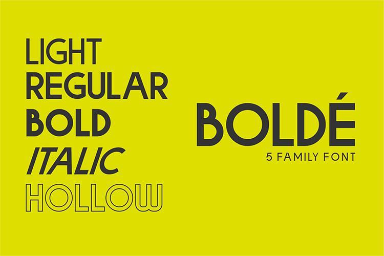 Bolde Sans Typeface-1