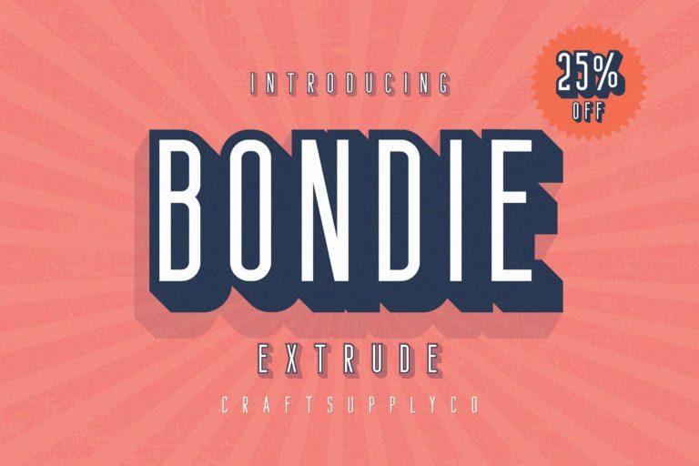 Bondie Extrude Font
