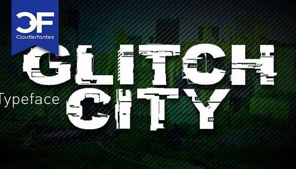 CF Glitch City Font