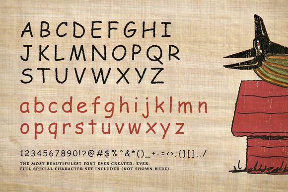 Comic Papyrus Font-1
