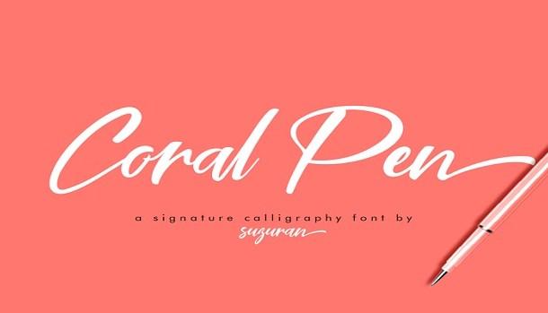 Coral Pen Font