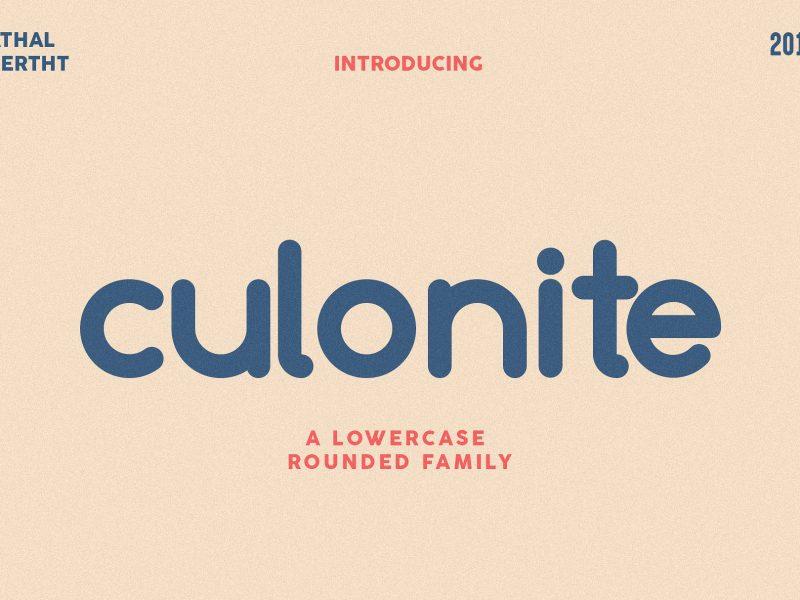 Culonite Font Family