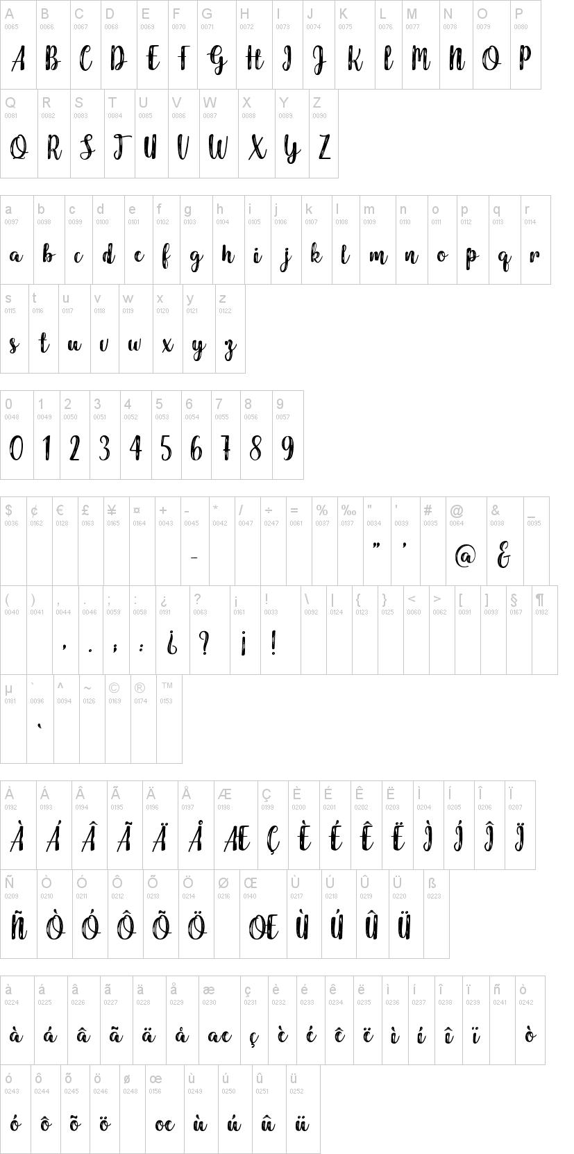 Harmonious Calendar Font-1
