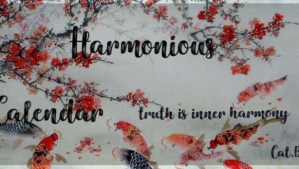 Harmonious Calendar Font