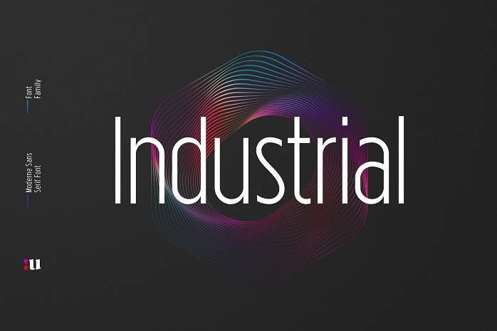 Industrial Sans Font Family - Dafont Free