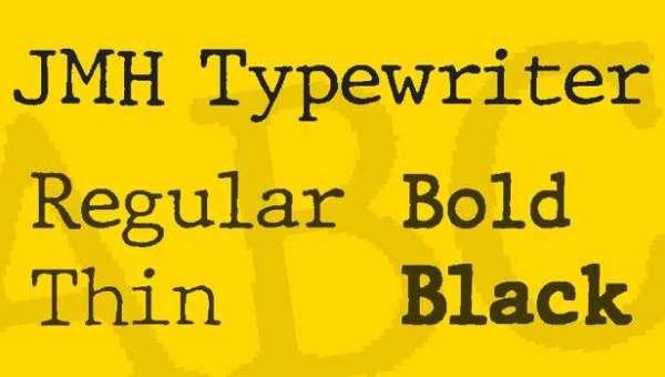 JMH Typewriter Font Family