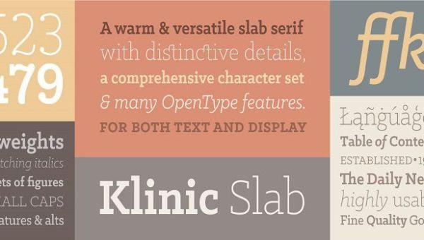 Klinic Slab Font Family